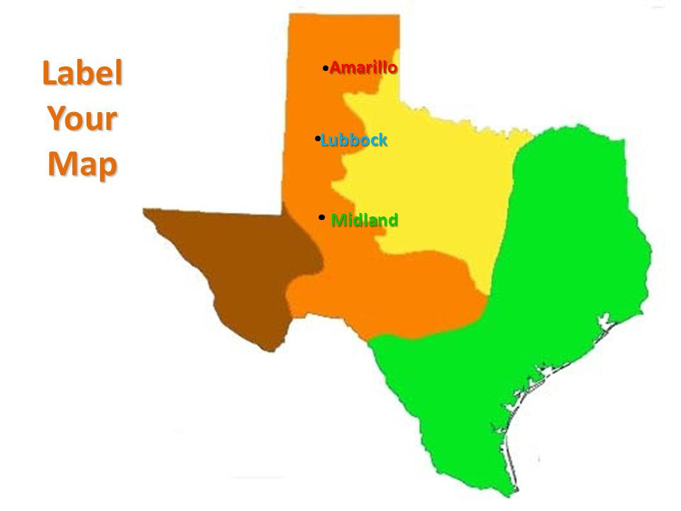 Texas Plains Location Central Regions