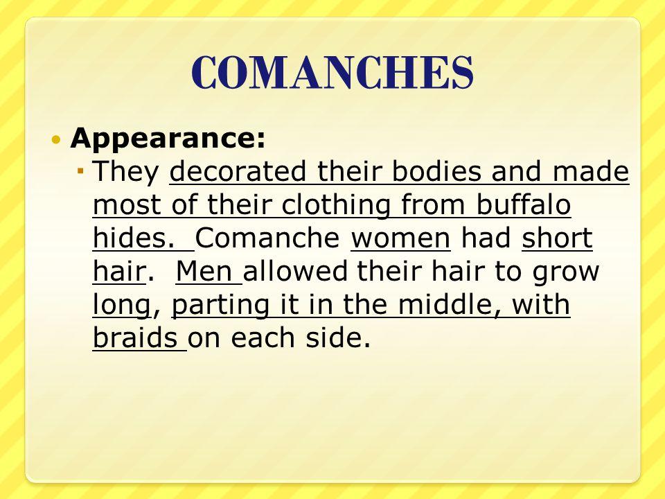 Comanche Indians Animals