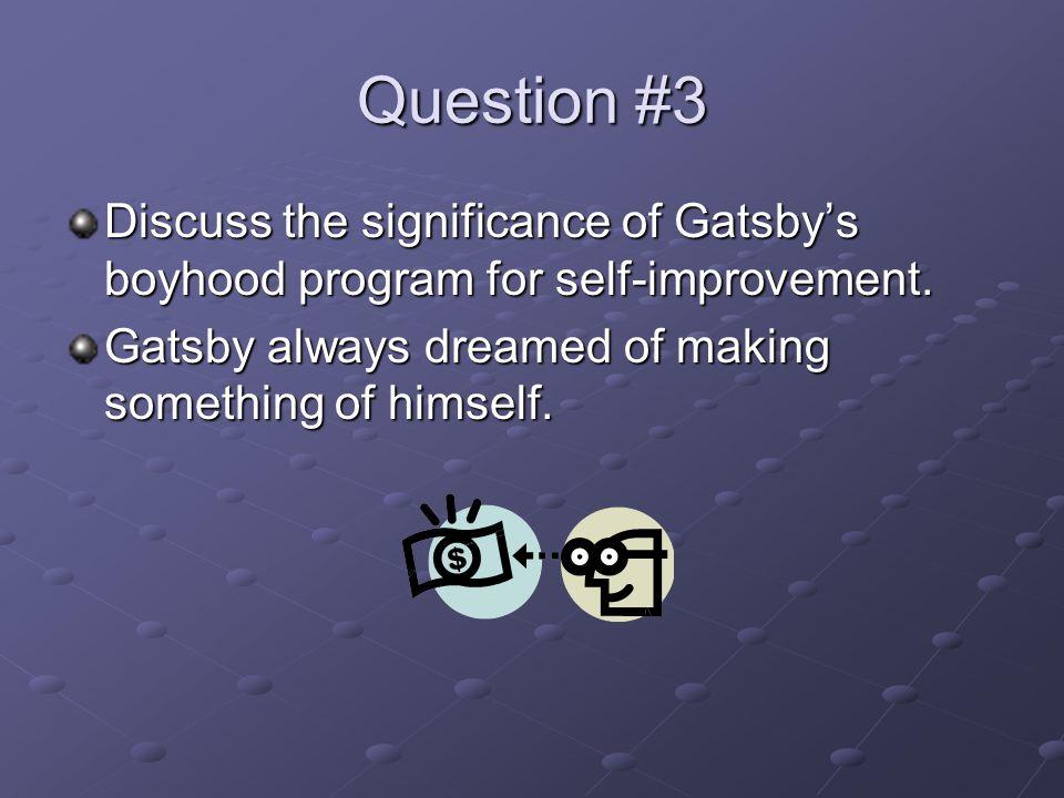 Gatsbys Improvement Self List