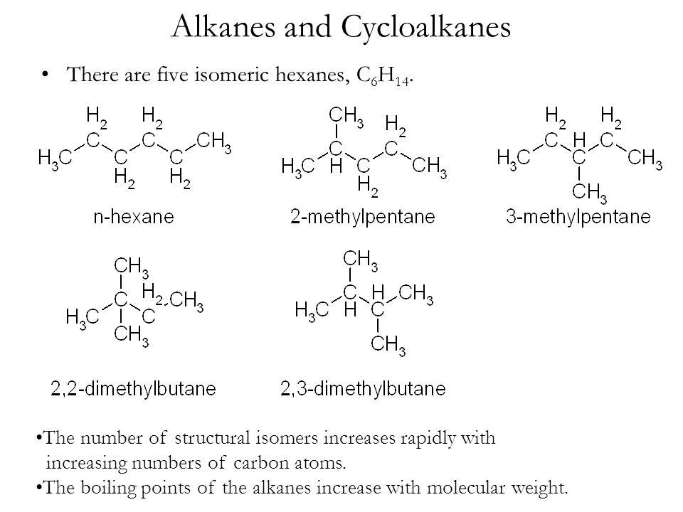 Boiling Alkenes Points