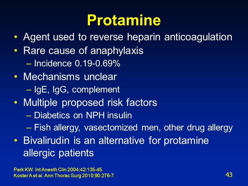 Protamine Used Newborns