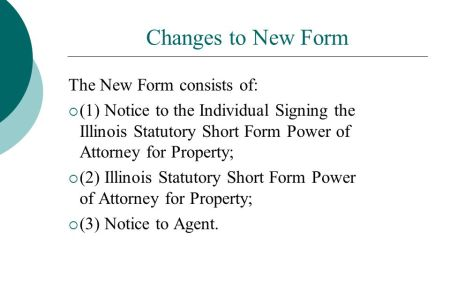 Free Standard Form Illinois Power Of Attorney Short Form For