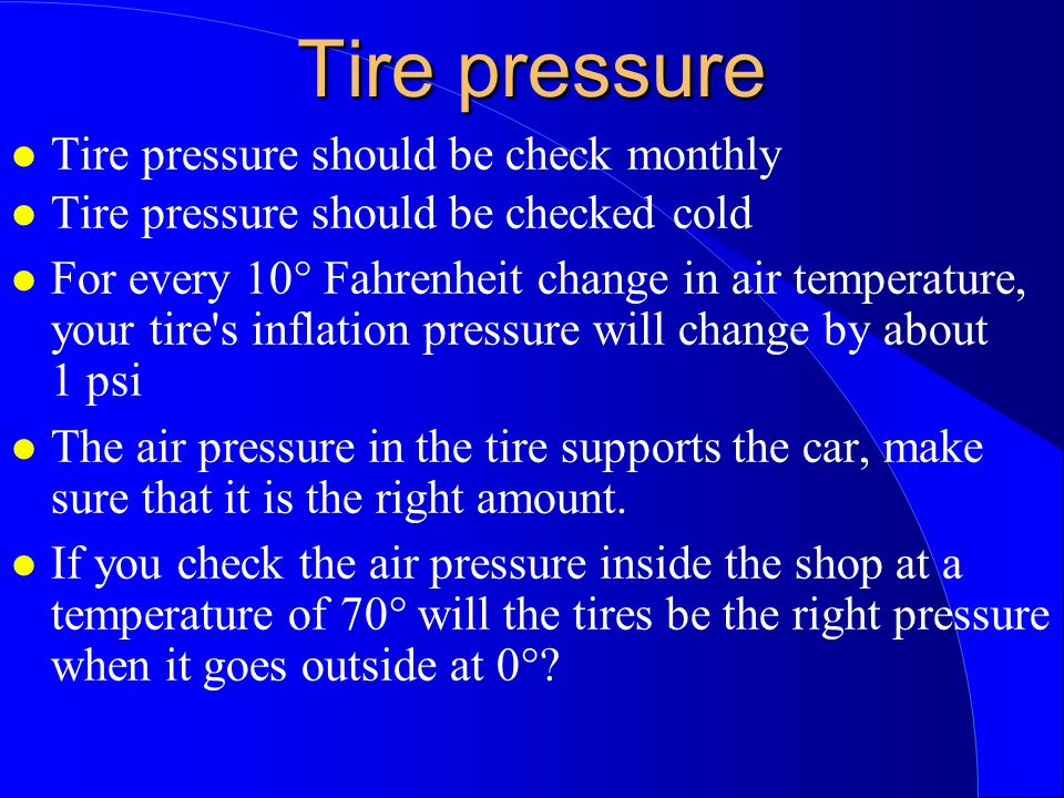 What Psi Should My Car Tires Be
