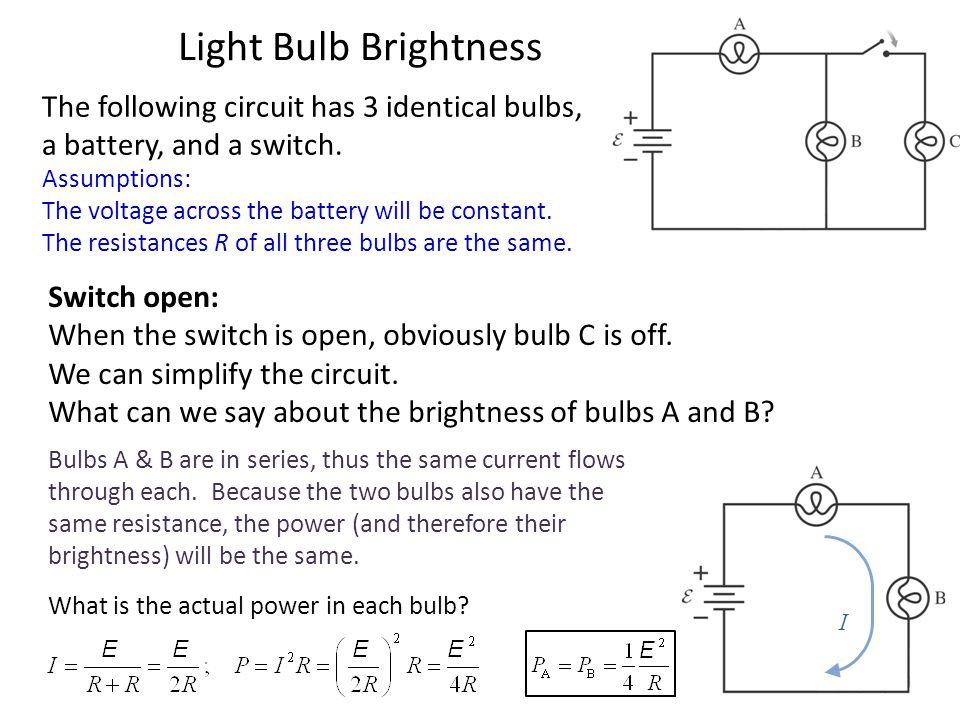 Battery Bulb Light Flows Electricity How
