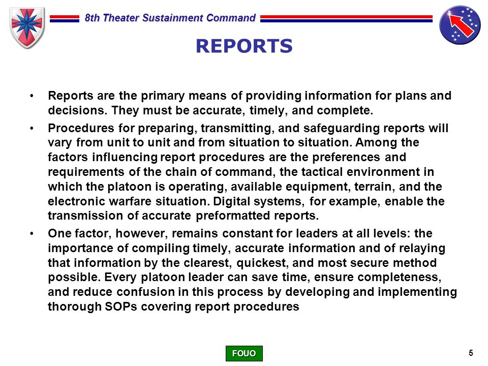 Army Situation Report Example