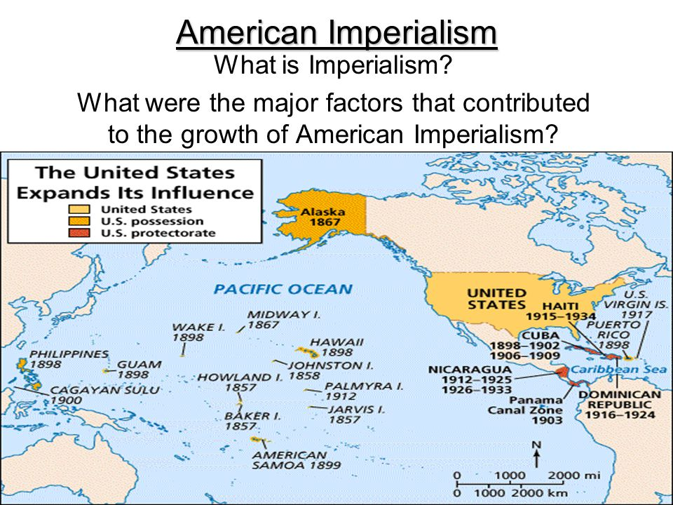 American Imperialism Map Outline