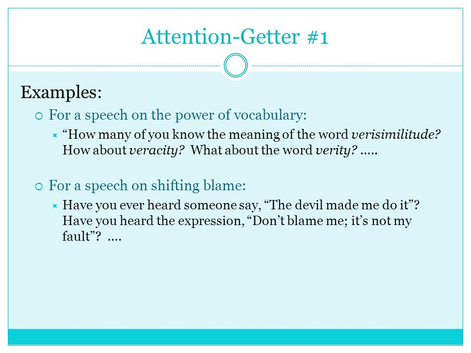 attention grabber examples