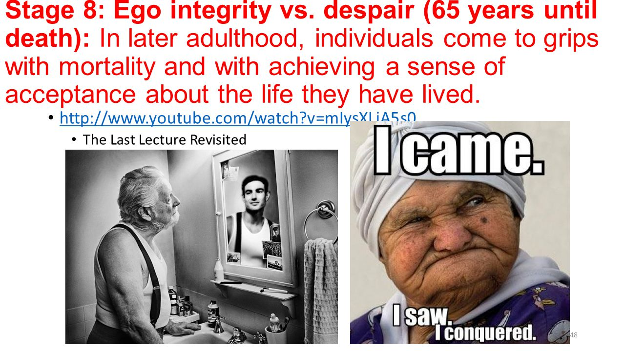 Integrity Vs Despair Ego 8