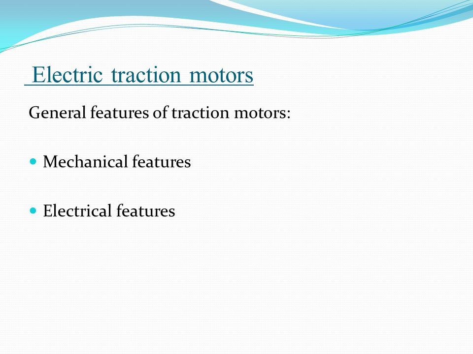 General Electric Traction Motors