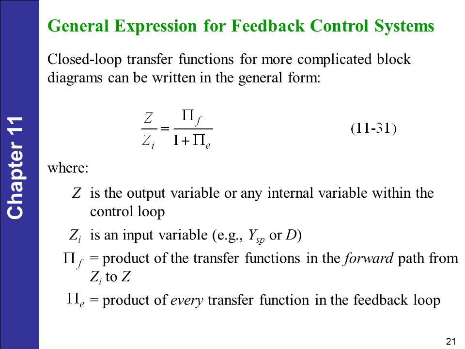 For Closed Loop Block Diagram Output Expression