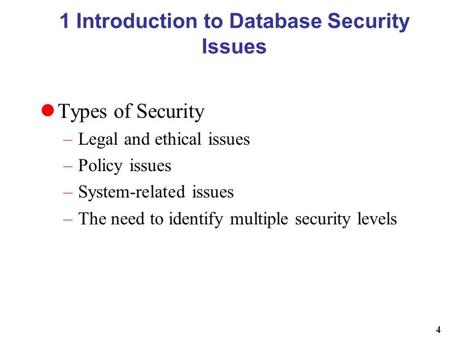 Database Security Methods