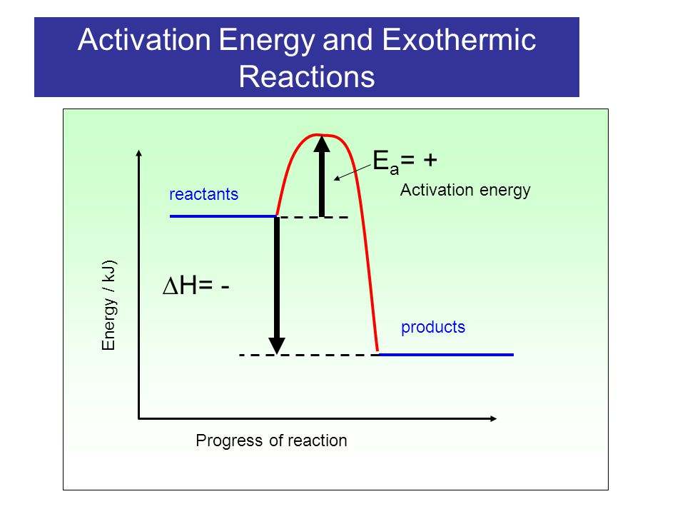 Exothermic Activation Diagram