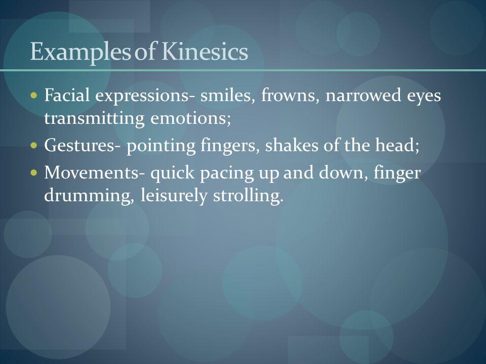Examples Proxemics