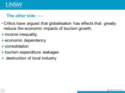 Globalisation of Tourism: Drivers and Outcomes - ppt download