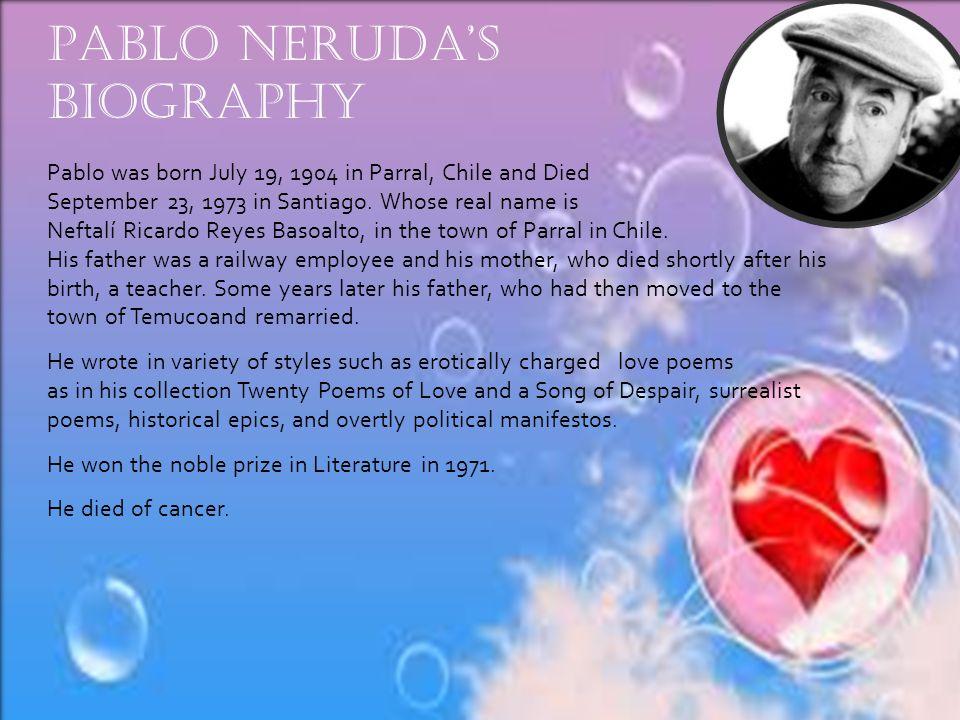 Neruda I Do Not Love You