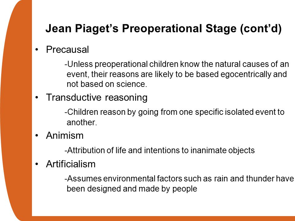 what is pre operational stage