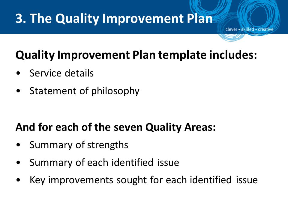 Self Identified Areas Improvement