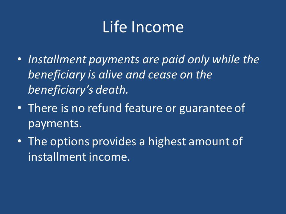 Refund Life Annuity