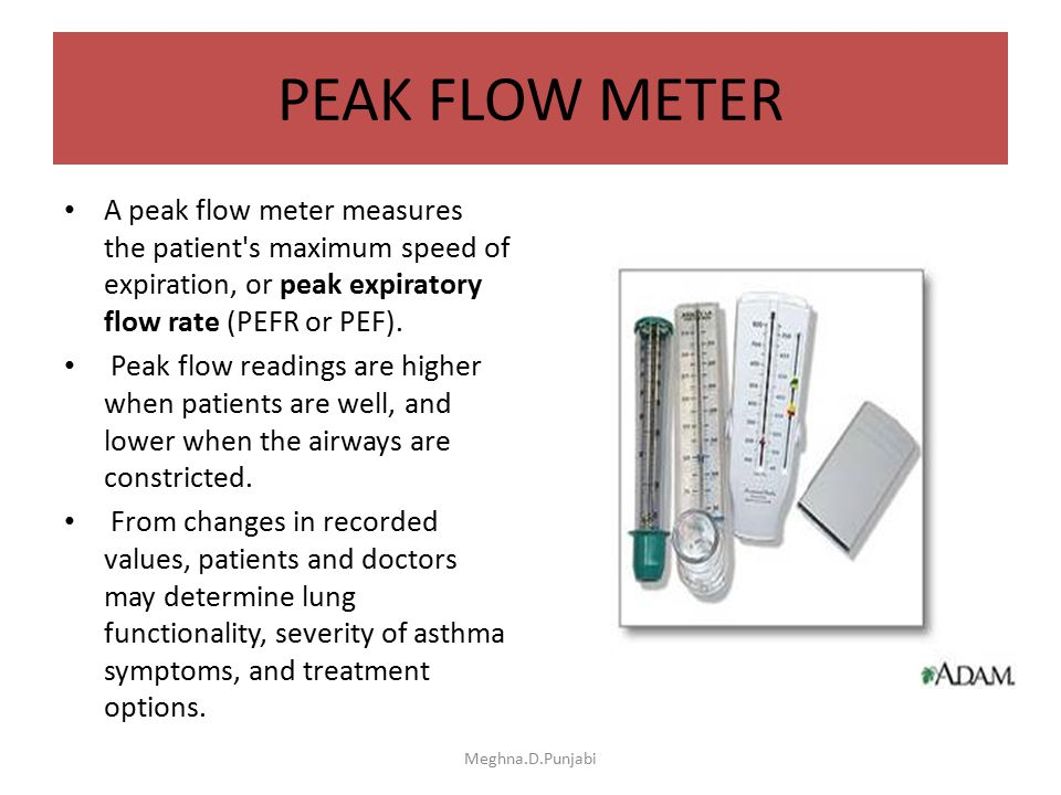 Peak Flow Meter Readings