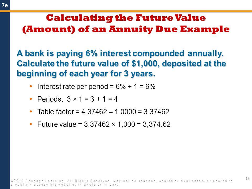 ordinary annuity due formula