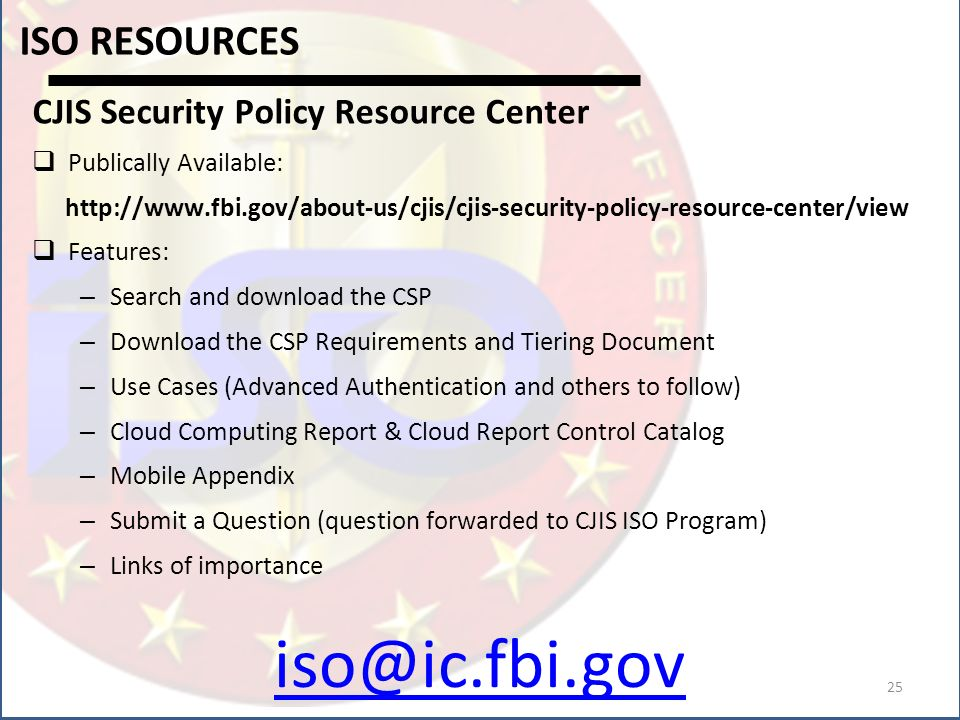 Cjis Security Policy 54