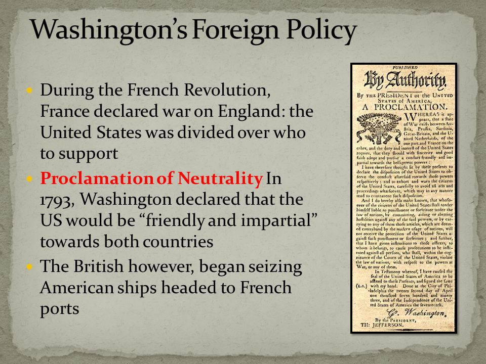 proclomation of neutrality