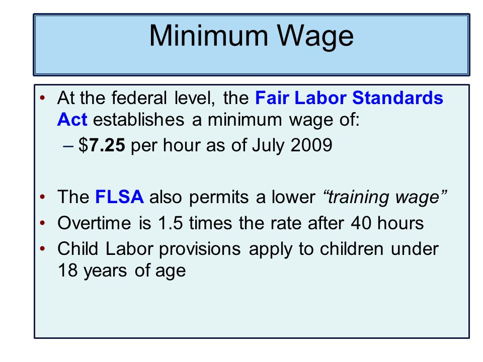 federal prevailing wage rate