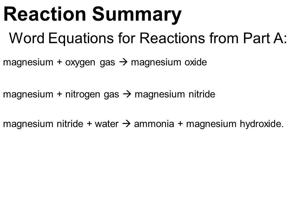 magnesium oxide with hydrochloric acid