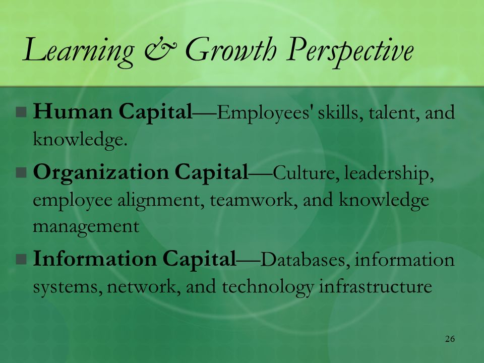 learning and growth perspective