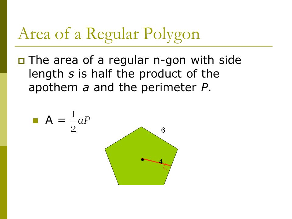 Apothem Area Regular Triangle