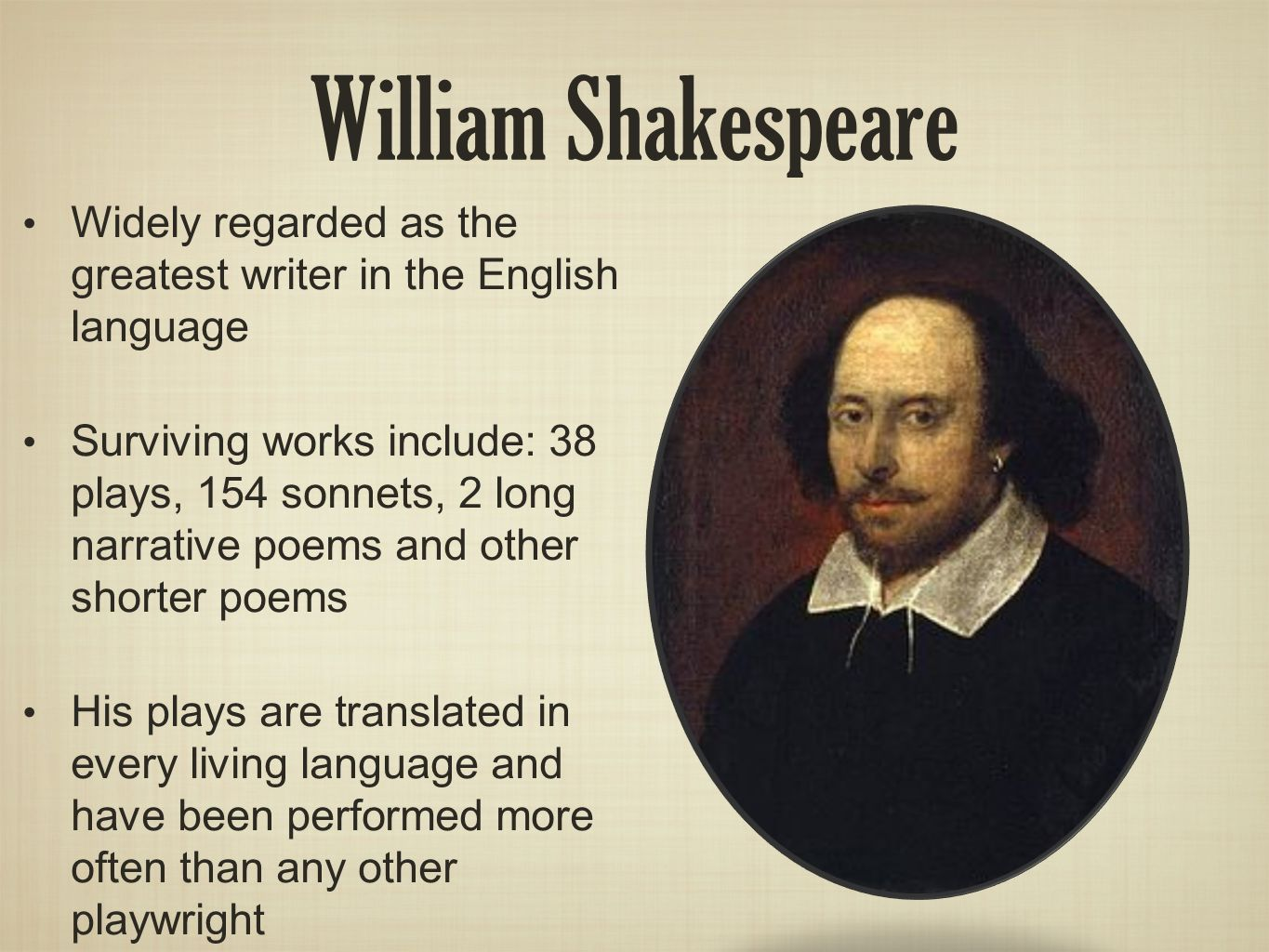 Background of William Shakespeare and Romeo & Juliet - ppt ...