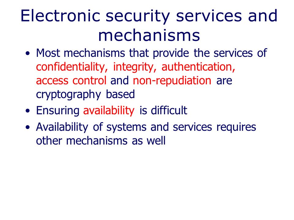 Electronic Security Services