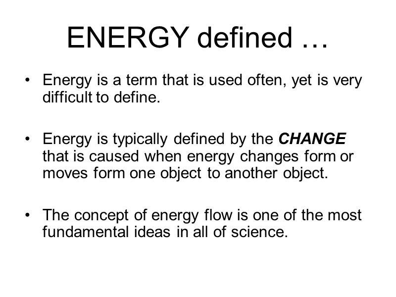 Energy Transfer Definition