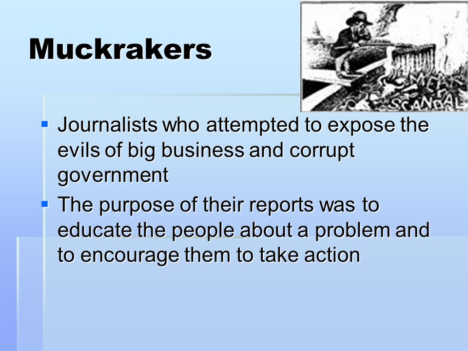 Muckraker Workplace Problem