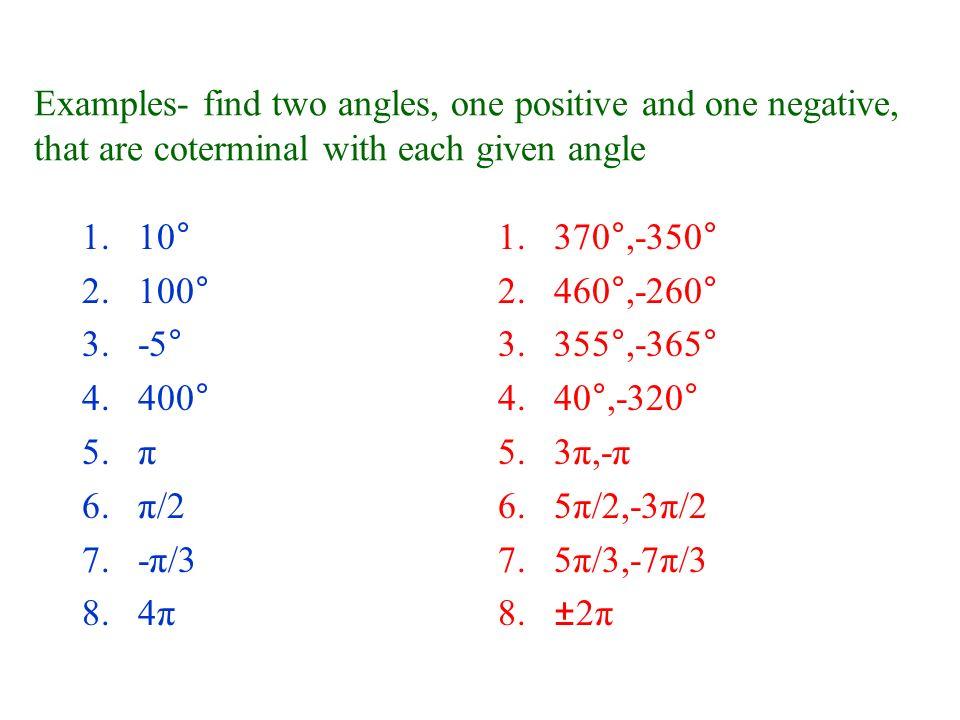 Coterminal Angle Circle
