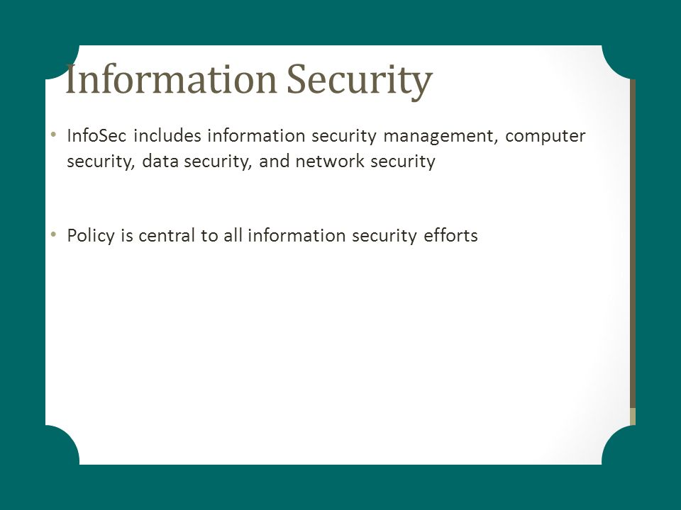 Information Security Management System Policy