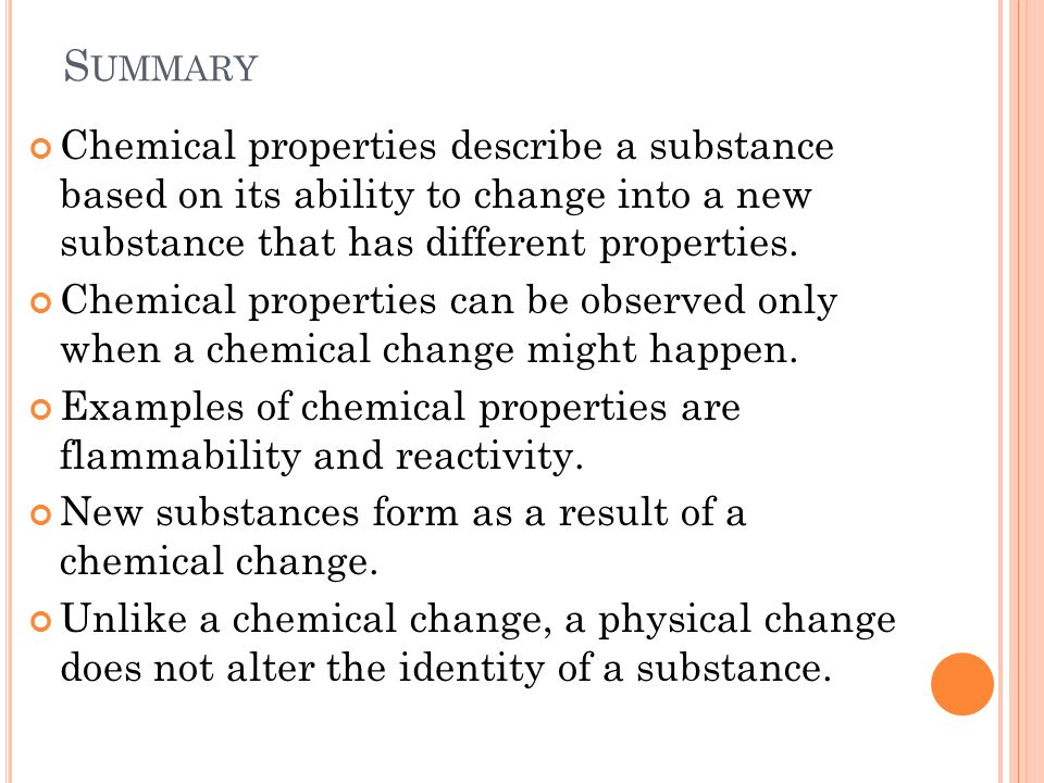 Chemical And Changes Physical Are How And They Are Substance Used What