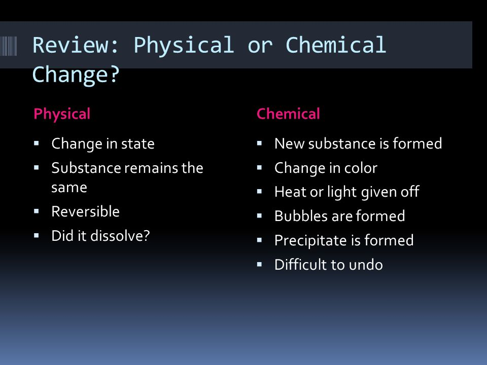 Chemical Are How And Changes And They Used Physical What Substance Are