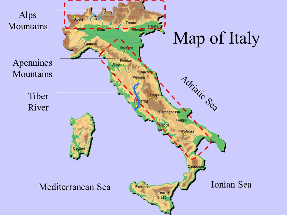 Italy Apennine Mountains Map