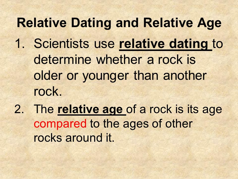 relative dating quizlet