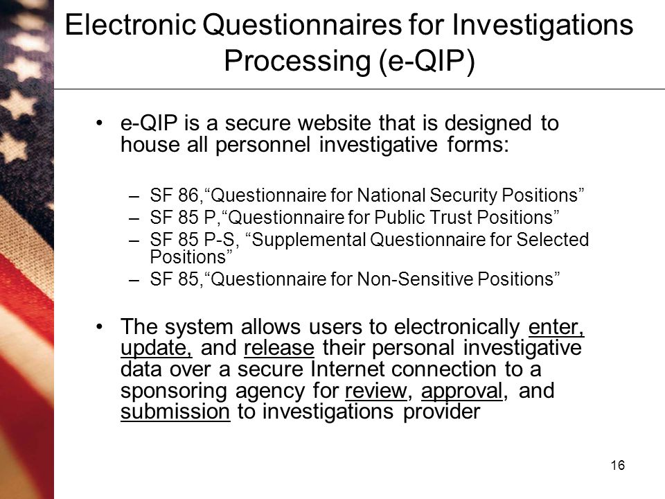Personnel Security Questionnaire Sf 86