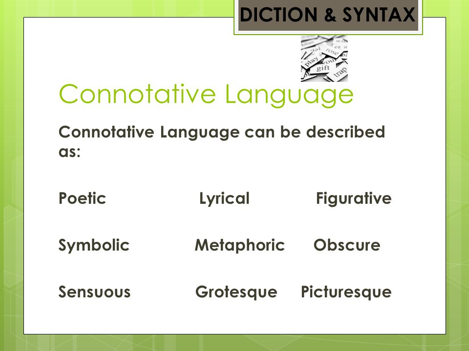 Figurative Picture Words One Language All