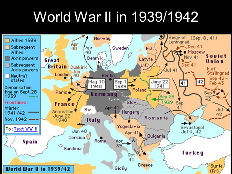 Map Europe After Wwii