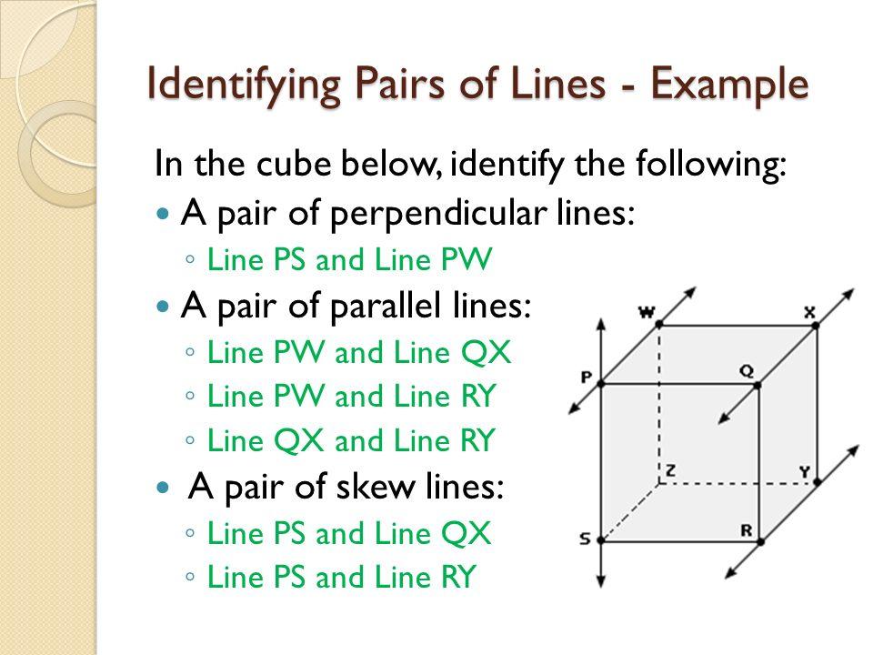4 Pairs Perpendicular Lines