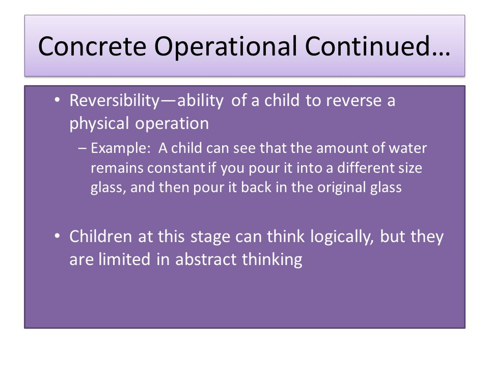 concrete operational examples