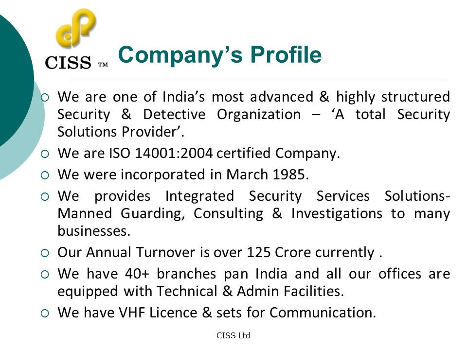 Profile Security Services
