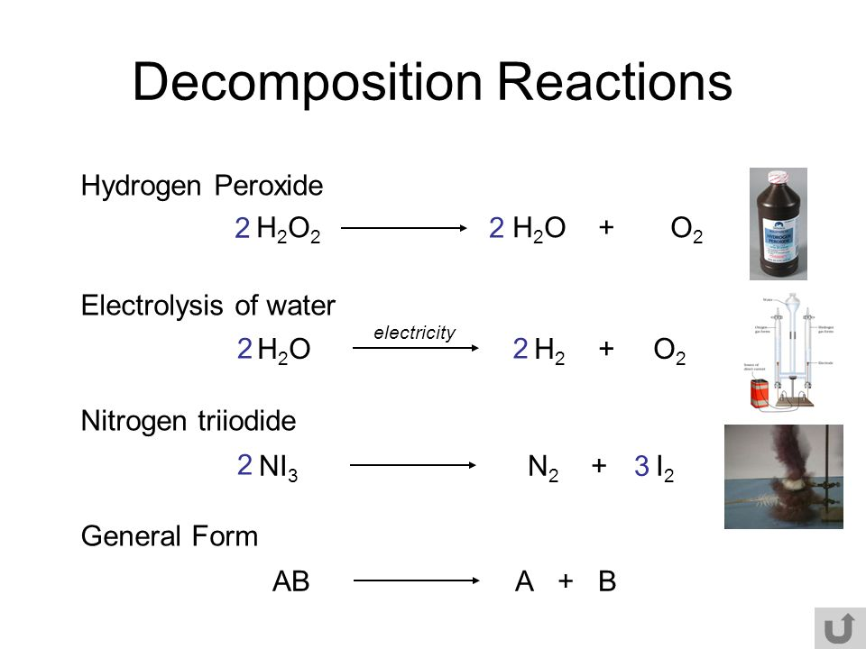 Equation Hydrogen Chemical Peroxide