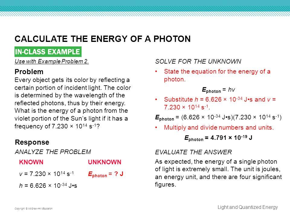 Wavelength Problems Worksheet