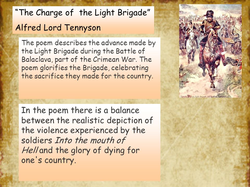 Charge Light Brigade Poem