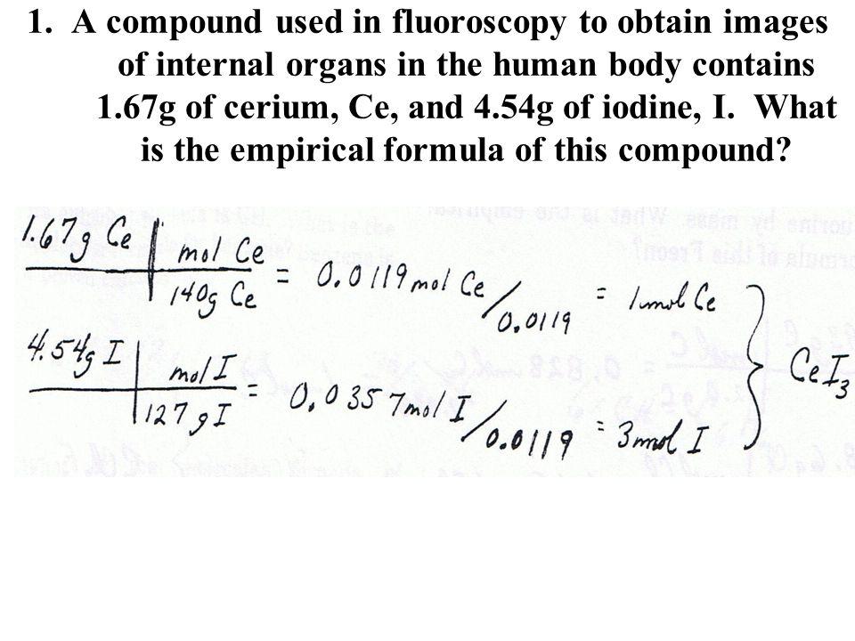 Molecular Empirical And Formula Worksheet